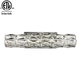 Indoor Bedroom Crystal Wall Light Hotel Decor Led Long Cylindrical Crystal Wall Lighting Fixture