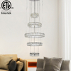 Decorative Five Round Rings LED Crystal Pendant Lamp Decor Modern Hanging Lamp Chandelier Pendants Lights