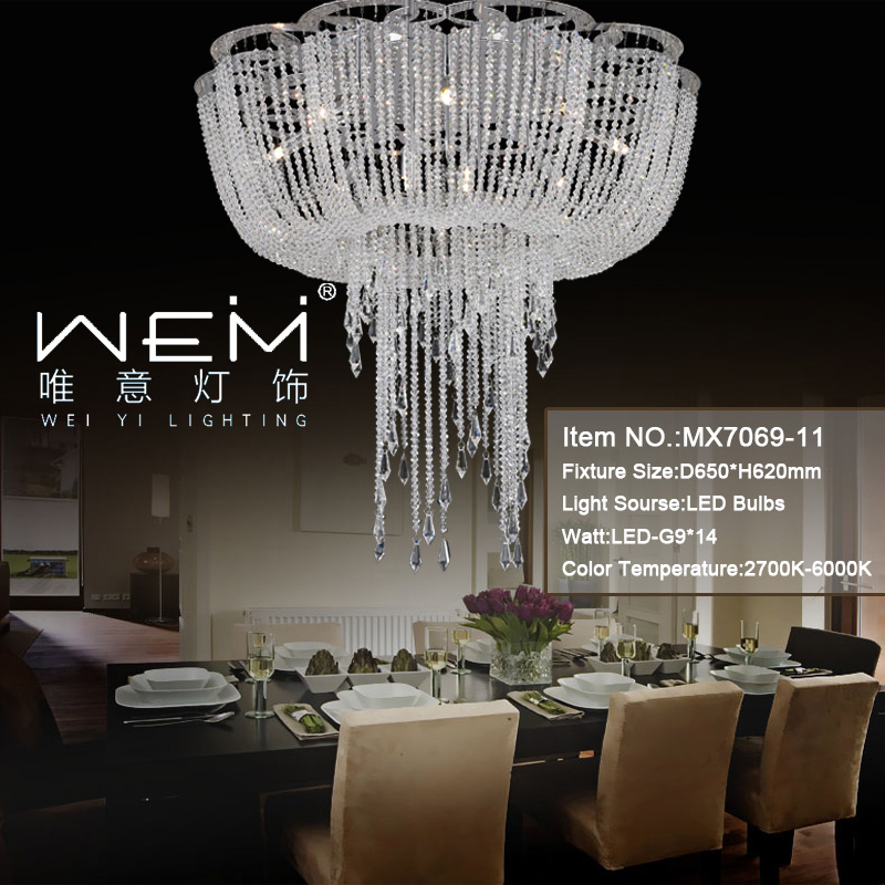 Zhongshan Luxury Designed Ceiling Chandelier Light Hotel Restaurant Crystal Ceiling Lamp Wedding Church Ceiling Lighting